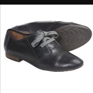 Naya Teak Oxford Shoes Black Leather Gray Sz 8